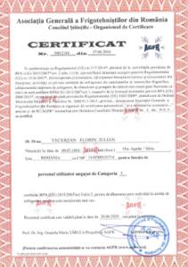 Radel Hahn SRL Certificate Frigo_2018